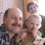 мое фото с сыном и бабушкой